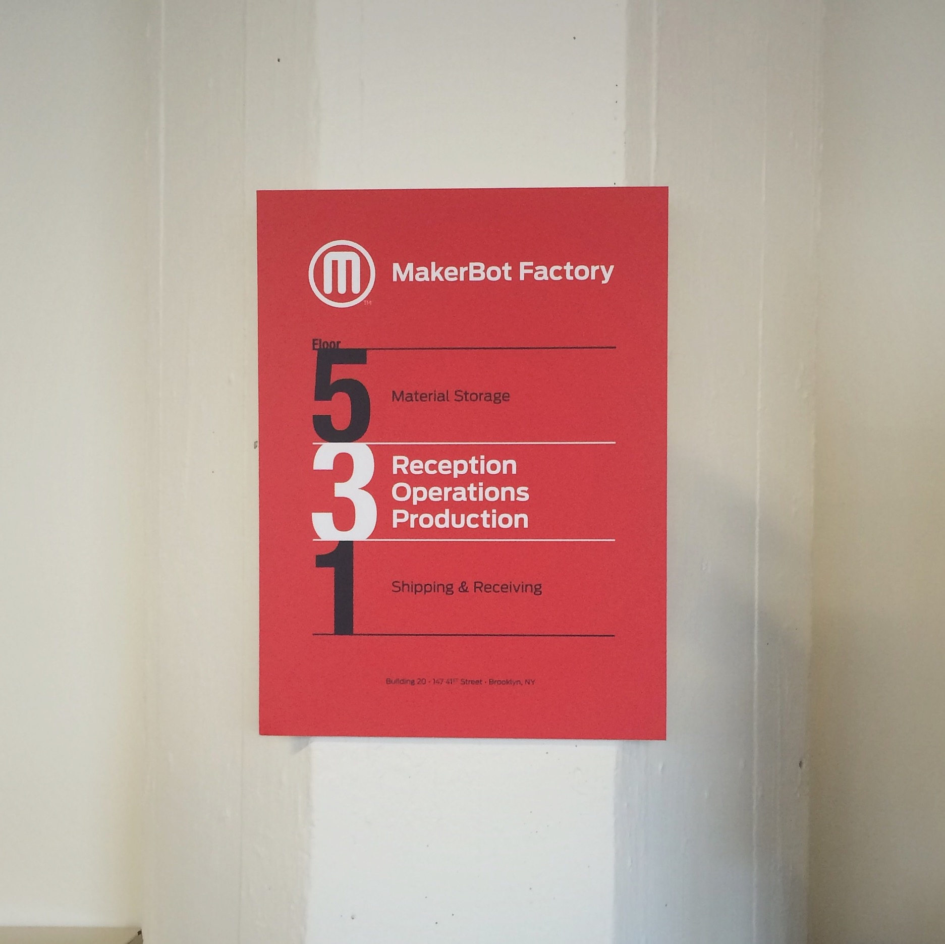 makerbot factory building sign