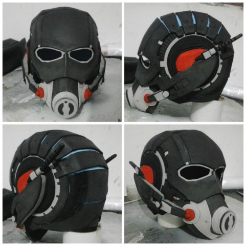 ant man helmet made from eva foam adafruit industries makers hackers artists designers. Black Bedroom Furniture Sets. Home Design Ideas