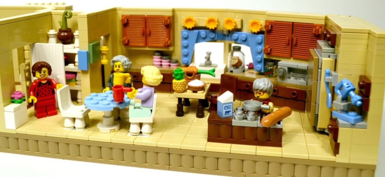 Lego Golden Girls Living Room And Kitchen Modular Set With
