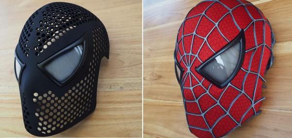 3d printed Spider-Man Mask 1