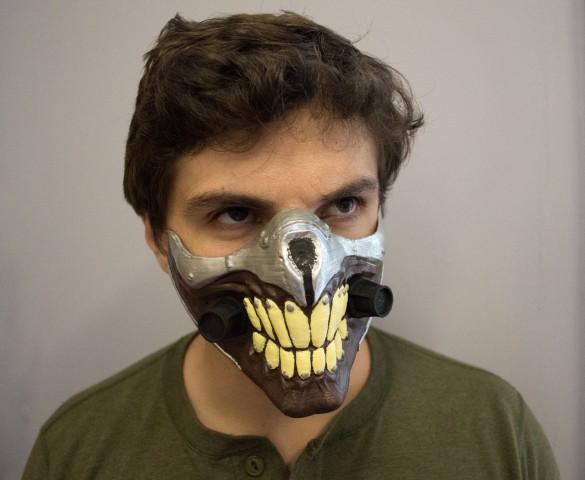 3d printed immortan joe mask 2