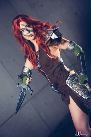 Monika Lee Aela the Huntress Cosplay