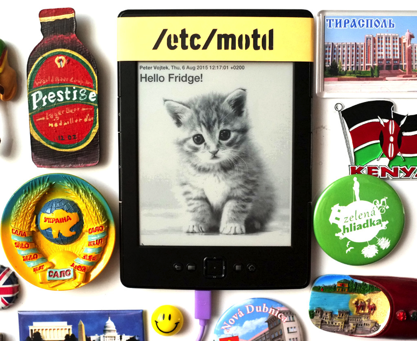 Share Messages via Kindle on your fridge #piday #raspberrypi