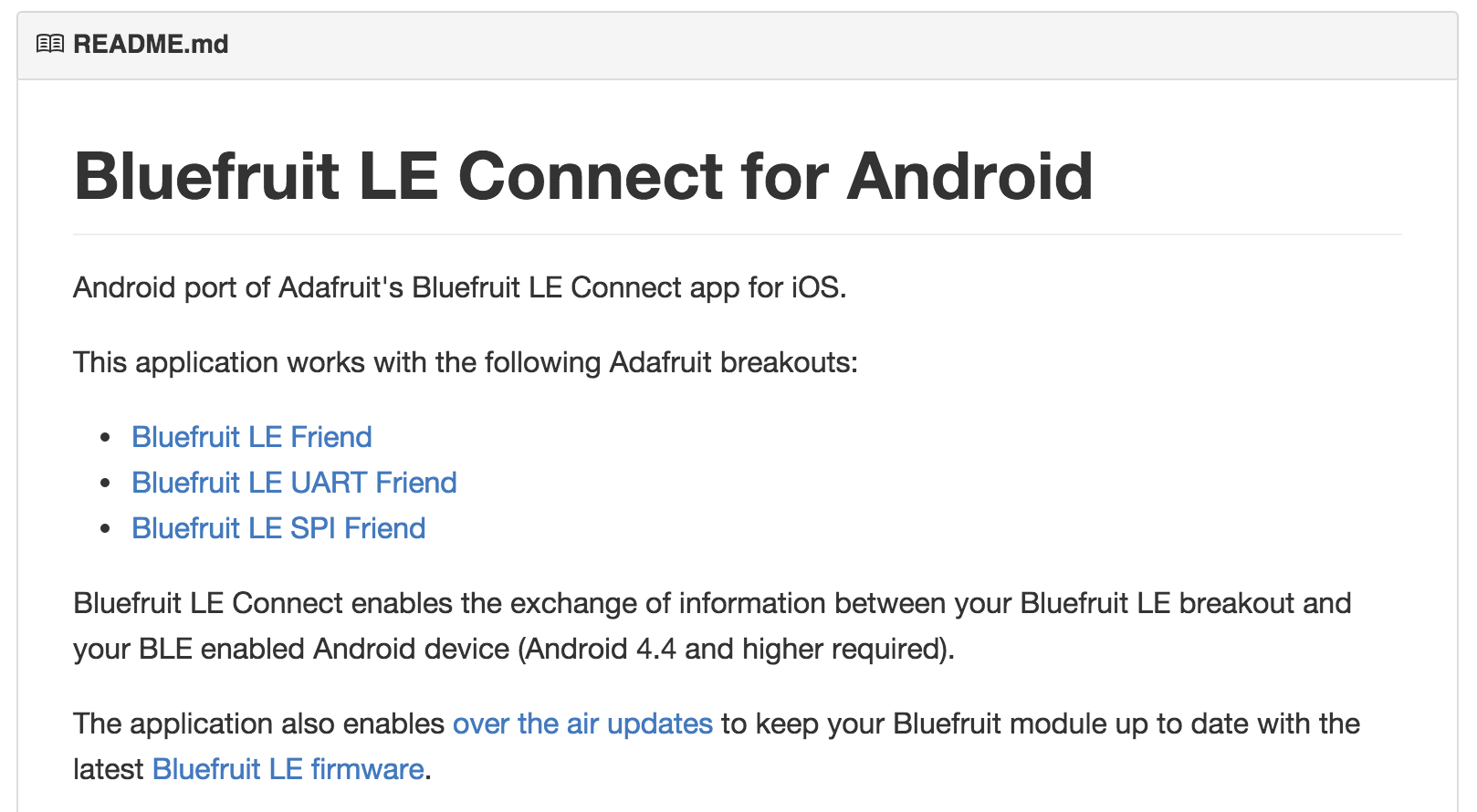 Bluefruit LE Connect for Android on Github « Adafruit