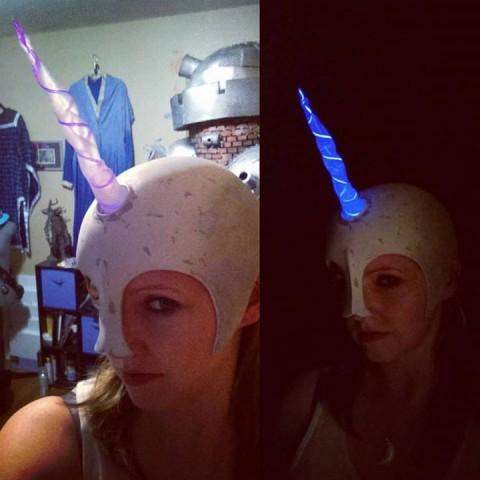 hot glue unicorn horn 2