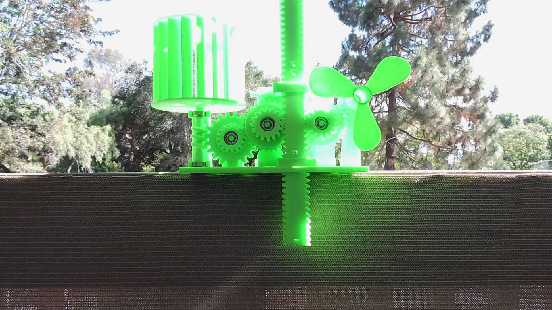 Wind Energy Stored In Gravity #3DThursday #3DPrinting