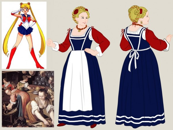 16th century sailor moon cosplay 2