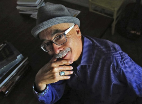 Juan Felipe Herrera at his home in Fresno, Calif., June 8, 2015. The Library of Congress is to announce Wednesday morning that Herrera, a son of migrant farmworkers whose writing fuses wide-ranging experimentalism with reflections on Mexican-American identity, will be the next poet laureate. (Gary Kazanjian/The New York Times)