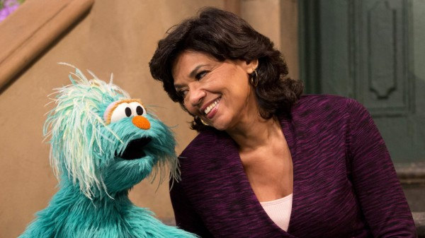 Manzano, shown above with Rosita — a bilingual Muppet from Mexico — recently announced that she will be retiring from Sesame Street after 44 ye