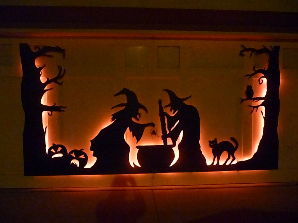 Halloween Garage Door Silhouette Electronichalloween