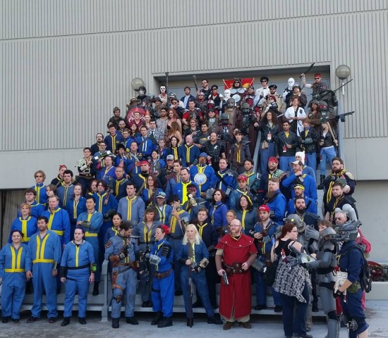 Fallout cosplay group