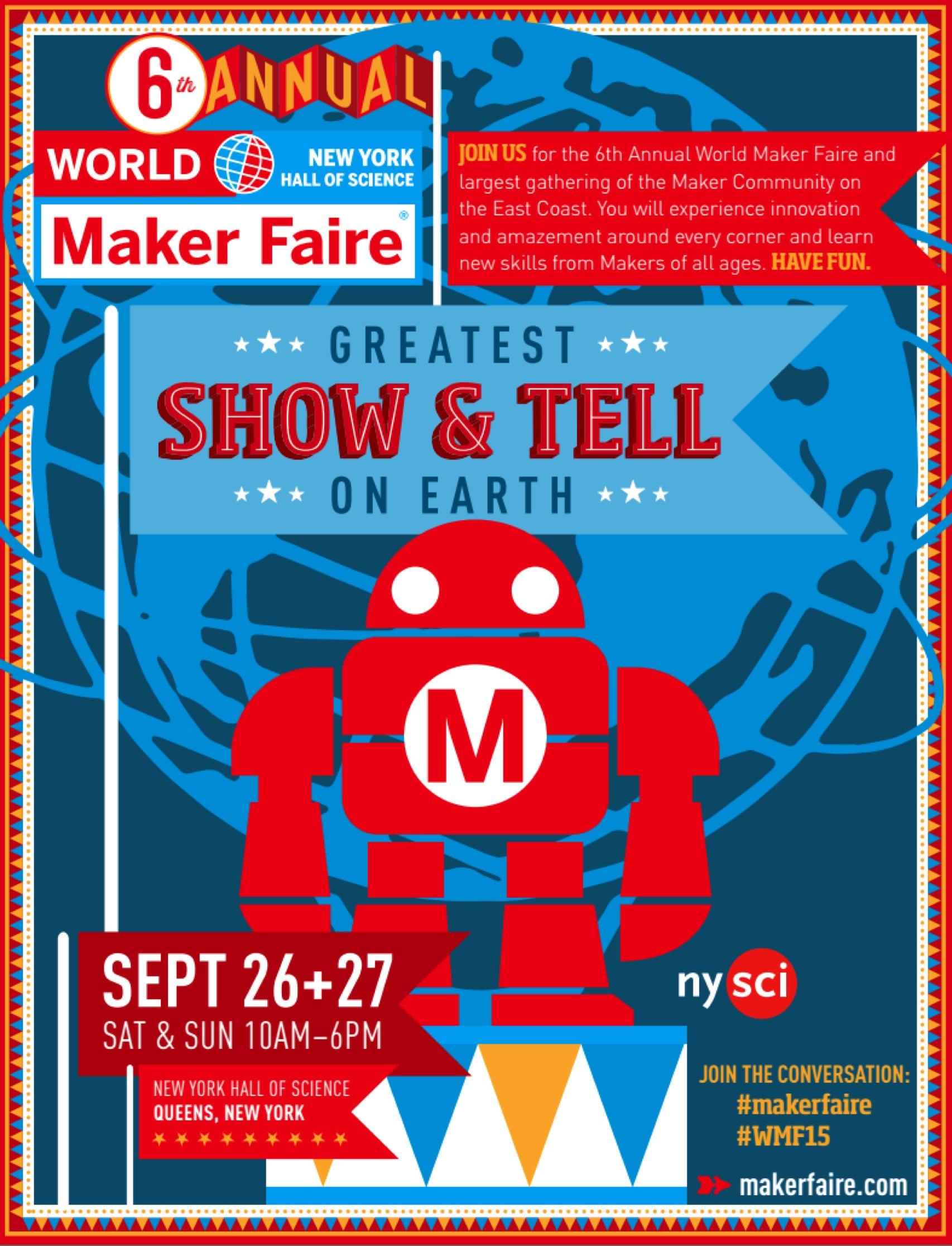 Maker Faire New York 2015 Schedule Wmf15 Makerfaire