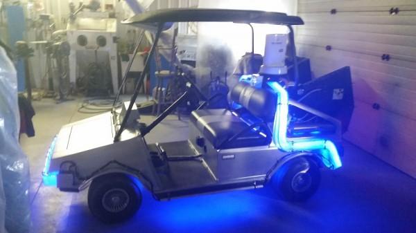 delorean golf cart 1