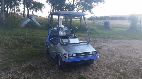 delorean golf cart 2
