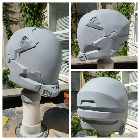 Halo Alternate Pilot Helmet with Light-Up Skull « Adafruit