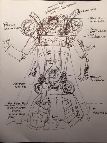 Chitty Chitty Bang Bang Transformer cosplay 2