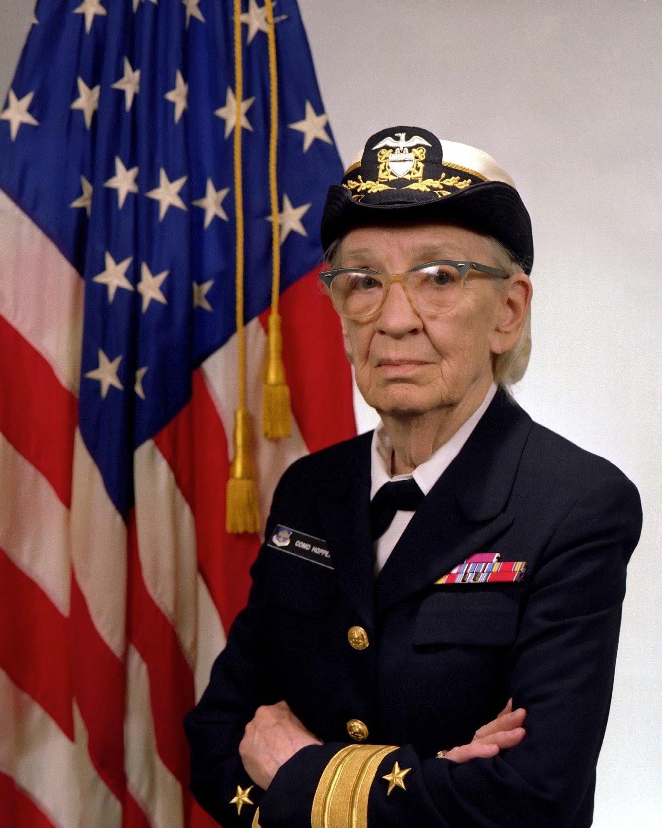 Commodore Grace M Hopper USN covered