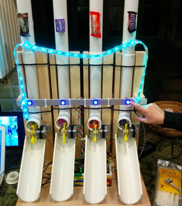 Build an arduino powered candy vending machine