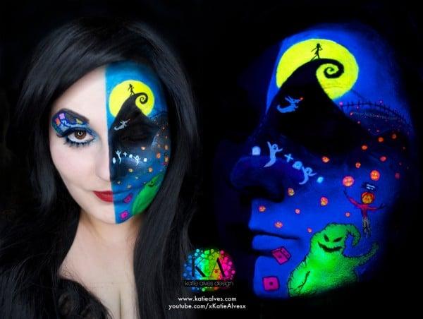 Nightmare Before Christmas Black Light Makeup How-To « Adafruit ...