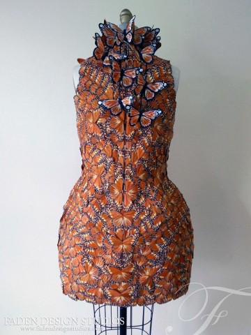 Effie Trinket butterfly dress 2
