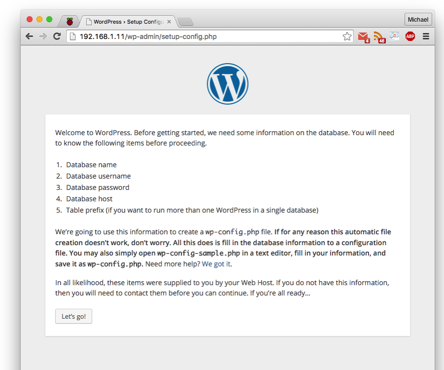Install WordPress on Your Raspberry Pi WordPress