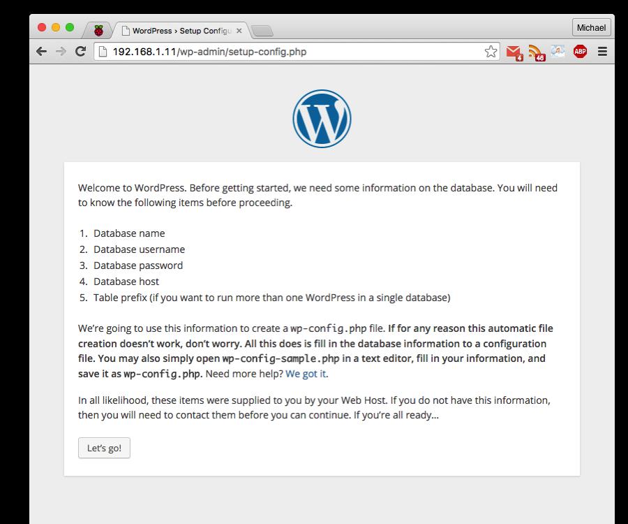 Install WordPress on Your Raspberry Pi WordPress