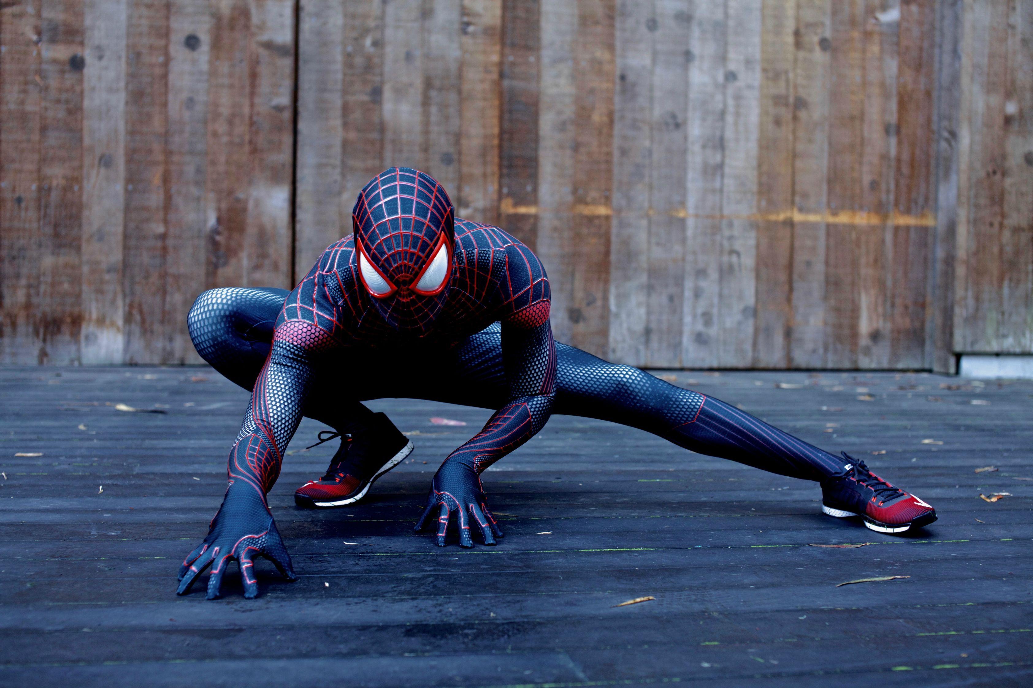 Image - Spider Man replica Costume by MalottPro.jpg ... |Black Spiderman Costume Replica
