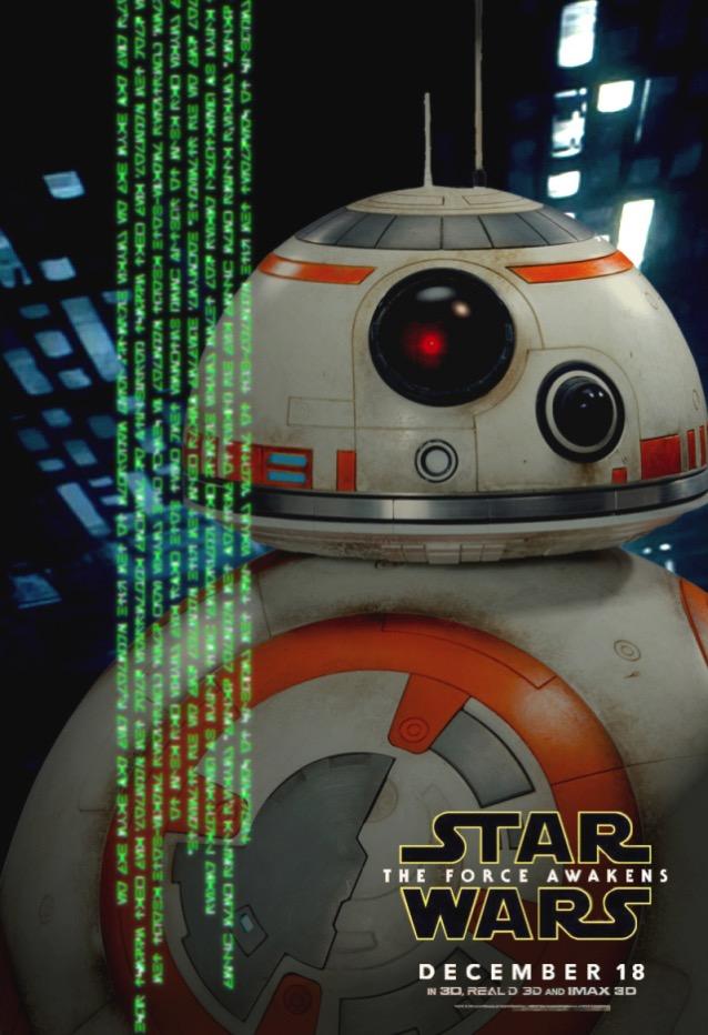 Bb8 star wars force awakens poster