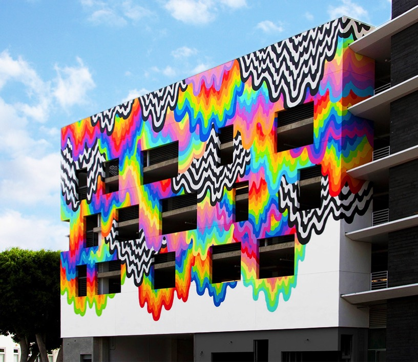 Jen stark drip color platform building culver city california designboom 15