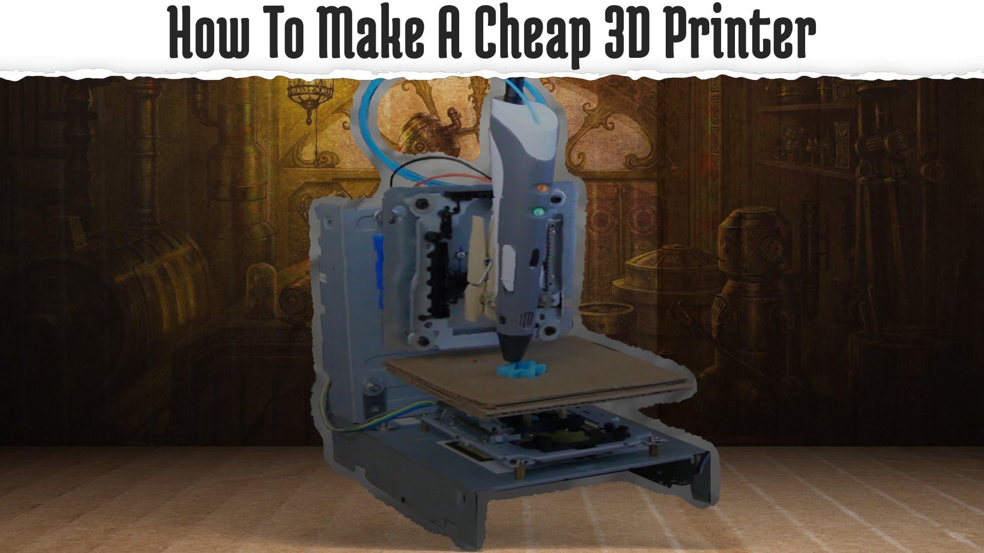 using a 3d printing pen to make a 3d printer  3dthursday
