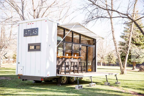 A Tiny Trailer Home Harvests Solar Power and Rainwater to Save Energy Dwell
