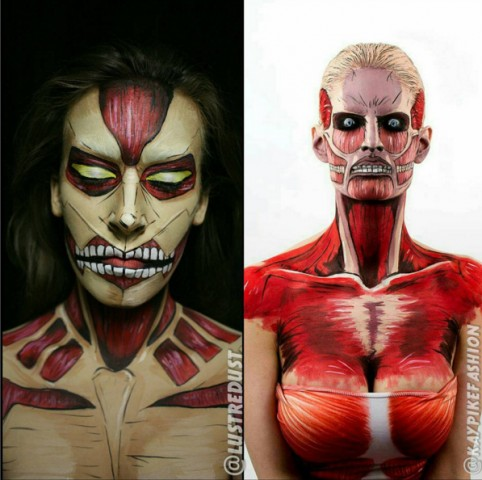 Attack on Titan makeup
