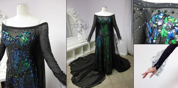 Dark Elsa cosplay 2