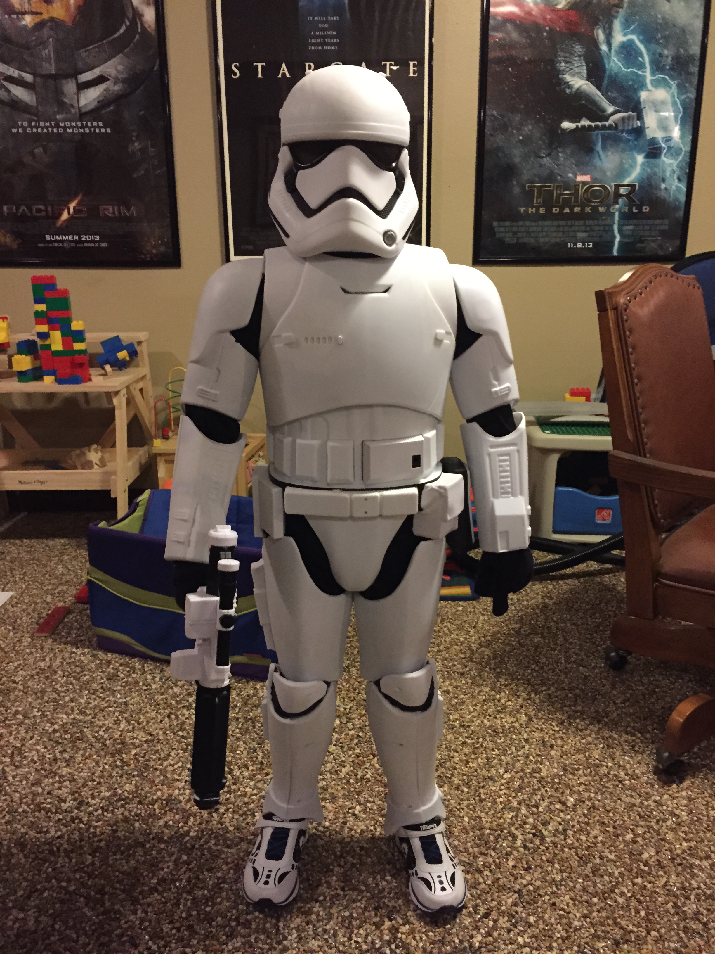 First Order Stormtrooper Costume Made From A Toy