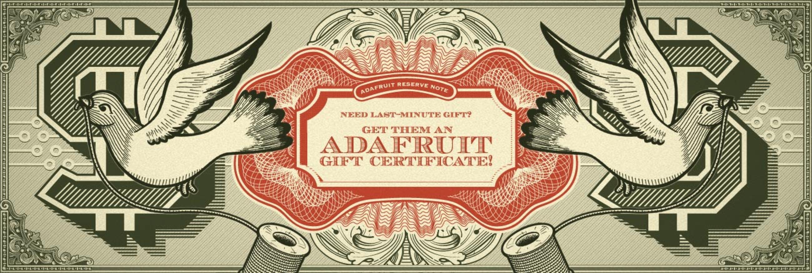 Adafruit Gift Certificate Hero