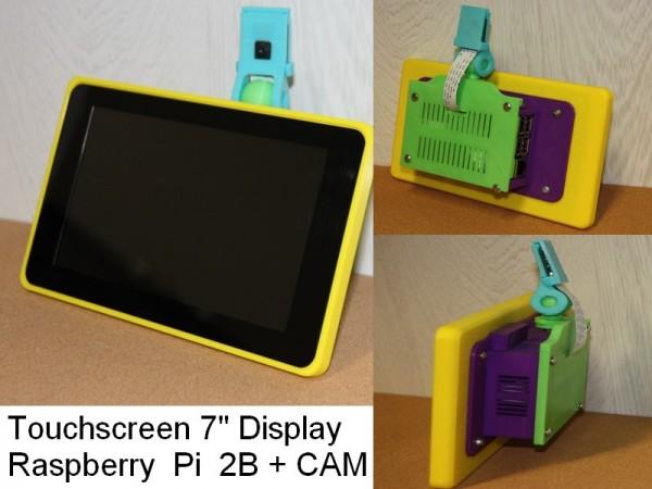 Case For Touchscreen 7 Raspberry Pi 2b Cam