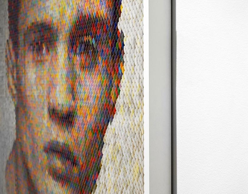 Peter combe paint chip portraits robert fontaine gallery scope miami designboom 03