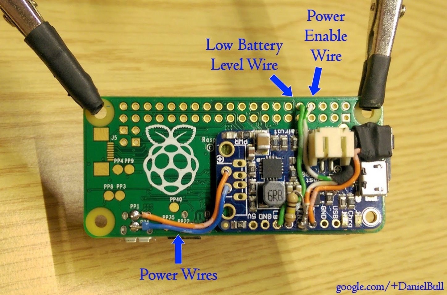 How To Run A Pi Zero And Other Pis From Lipo Including Low Battery Voltage Indicator Alarm Circuit Diagram Raspberry Piday Raspberypi Wiring