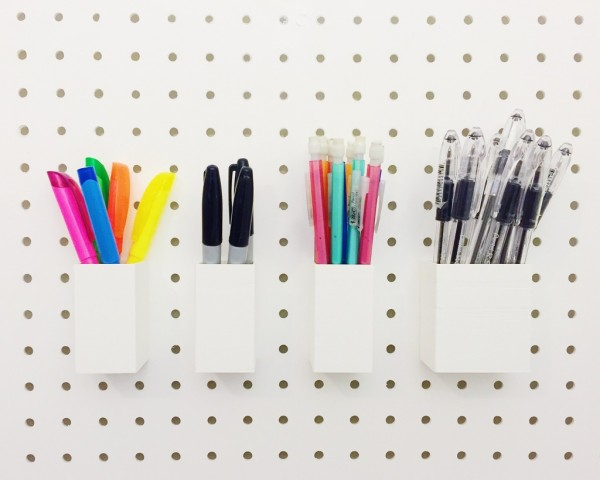 Customizable Holder for Pegboards
