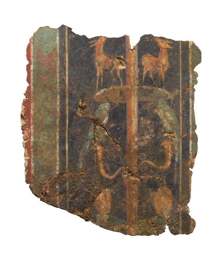 1 WEB A section of a decorative fresco dating to the 1st century AD Roman Britain cMOLA