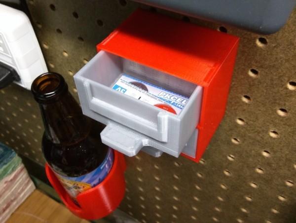 Pegboard 2-drawer parts bin