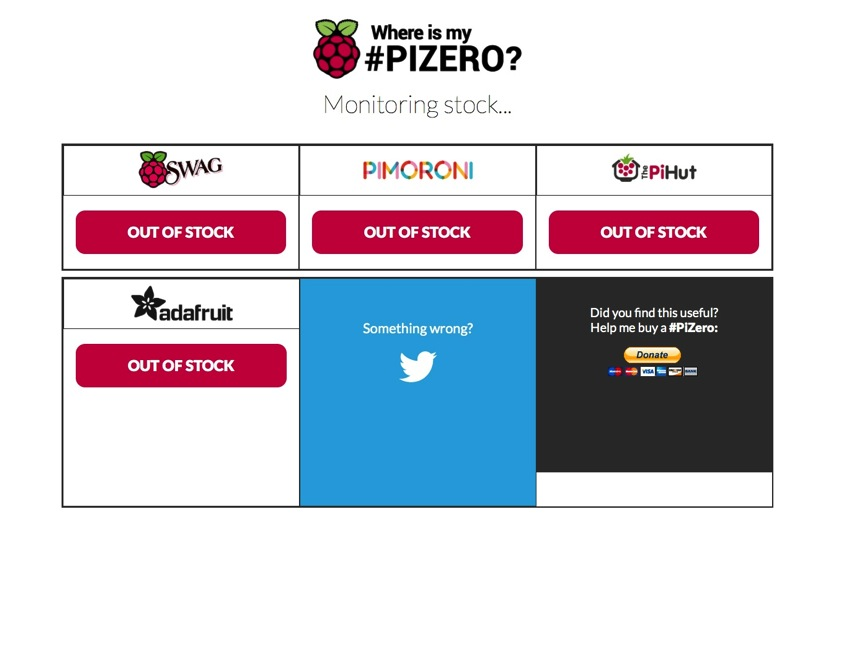 Where is My Pi Zero
