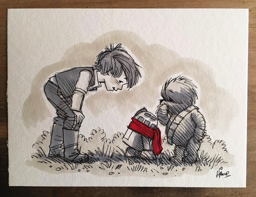 Star wars characters winnie the pooh wookie the chew james hance 23