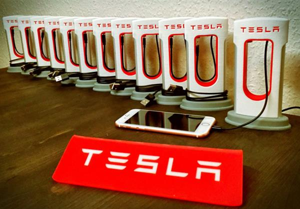 3d printed tesla supercharger