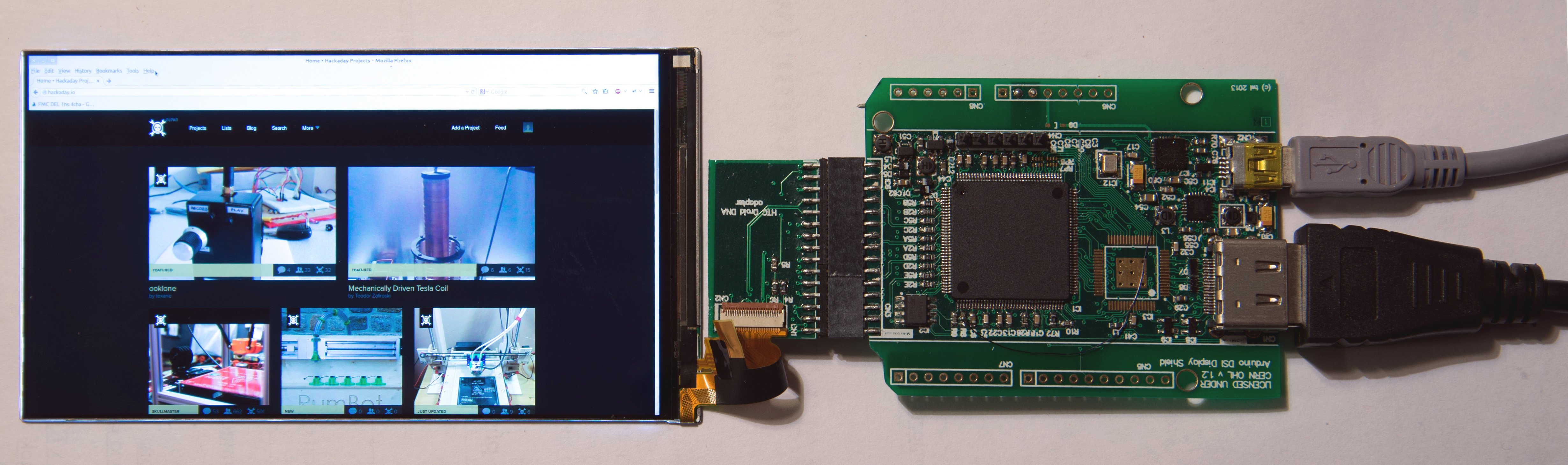 Control smartphone display from mipi serial