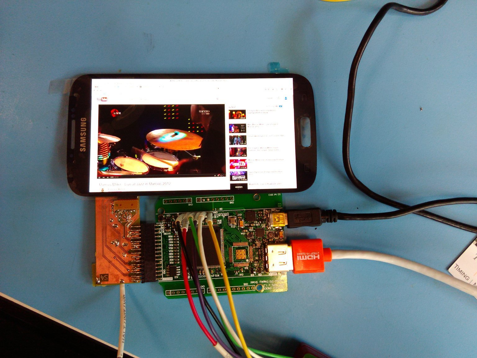 Control Smartphone Display from MIPI Display Serial Interface