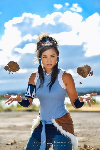 Korra and Asami Cosplay 2