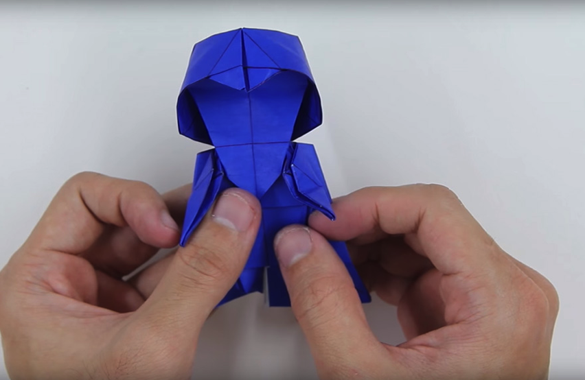 How To Make Origami Darth Vader