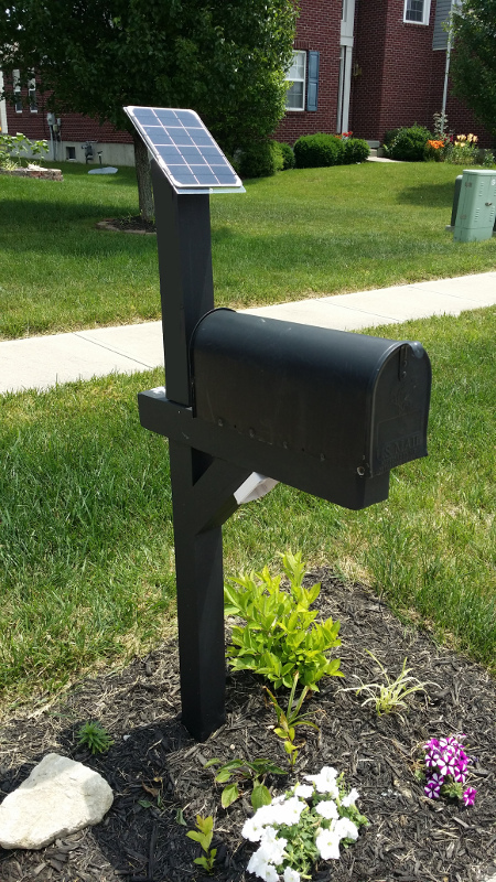 make a solar powered mailbox notification service Solar Mailbox Replacement Parts Solar Lighted Mailbox Street Number
