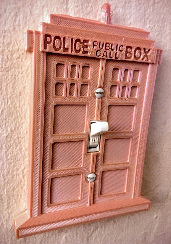 Tardis installed to wall